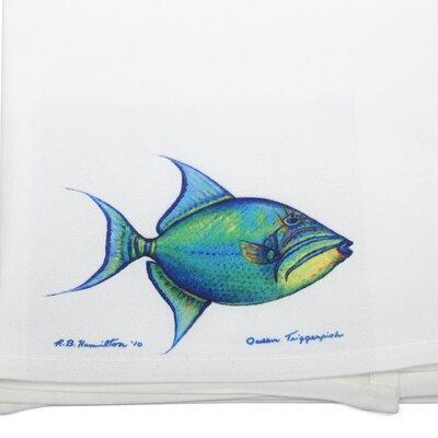 Betsy Drake Interiors Coastal Trigger Fish Hand Towel