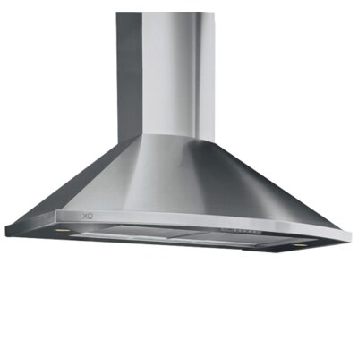 "Fabriano 36"" 350 CFM Convertible Wall Mount Range Hood in Stainless Steel Product Photo"