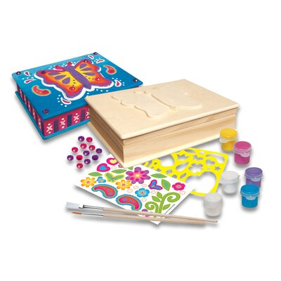 MasterPieces Works of Ahhh Butterfly Jewelry Box Painting Set