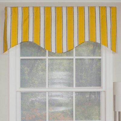 "Dorothy Stripe Cornice 50"" Curtain Valance Product Photo"
