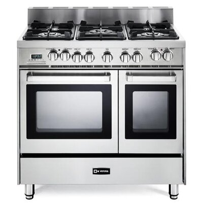 2.4 Cu. Ft Dual Fuel Convection Range in Stainless Steel by Verona