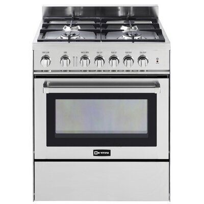3 Cu. Ft Gas Convection Range in Stainless Steel Product Photo