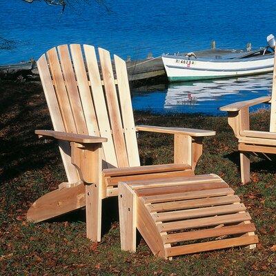 Rustic Natural Cedar Furniture Deluxe Cedar Adirondack Chair