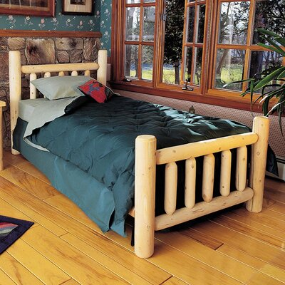 Rustic Natural Cedar Furniture Rustic Cedar Log Panel Bed
