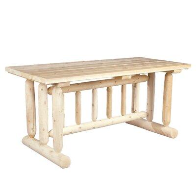 Rustic Cedar Harvest Family Dining Table Reviews Wayfair Supply