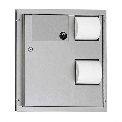American Specialties Dual Double Toilet Paper Dispenser and Waste Receptacle