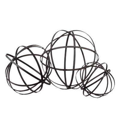 Metal Orb Dyson Sphere Design Decor by Urban Trends