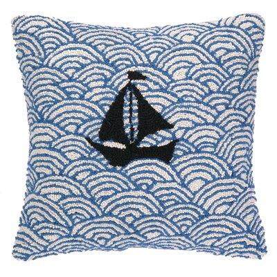 Nautical Hook Sailing on the Sea Wool Throw Pillow