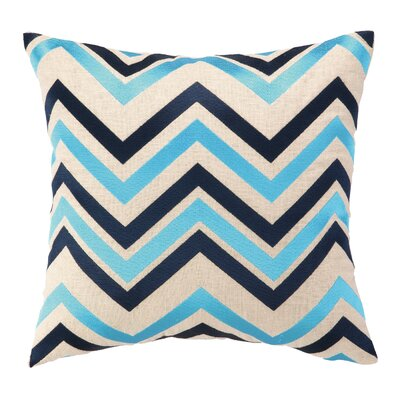 Peking Handicraft Courtney Cachet Chevron Embroidered Decorative Throw Pillow