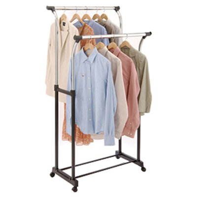 Free Standing Storage Flared Double Garment Rack Product Photo