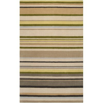 Biscotti Parchment Striped Area Rug by Harlequin
