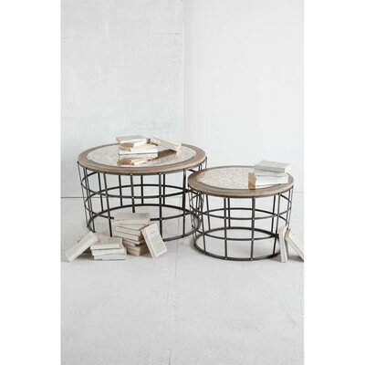 Gaiola 2 Piece Nesting Table by Mercana