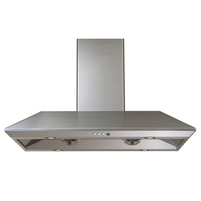 "R-18L 36"" Island Range Hood in Stainless Steel Product Photo"