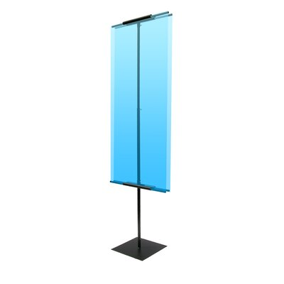 """Pinquist Tool & Die 90"""" Vertical Double-Sided Banner Stand"""