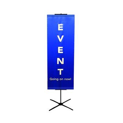 "Pinquist Tool & Die 48"" - 90"" Vertical Adjustable Travel Banner Stand"
