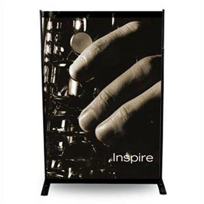 """Pinquist Tool & Die 24"""" - 48"""" Width Adjustable Powerframe Banner Display Stand"""