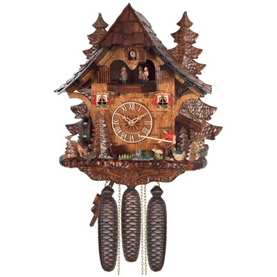 Eight Day Musical Cottage Cuckoo Wall Clock by River City Clocks