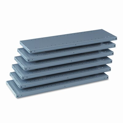 Tennsco Corp. Industrial Steel Shelving for 87 High Posts, 36W X 12D, 6/Carton