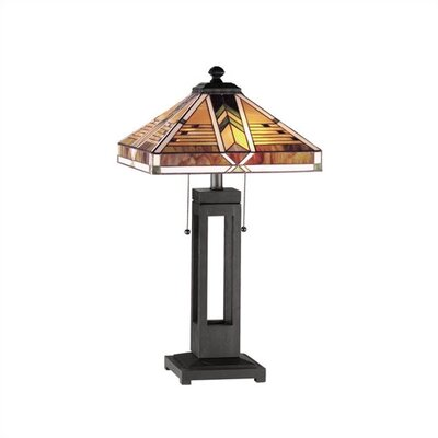 """RAM Game Room Taliesin 22"""" H Table Lamp with Square Shade"""
