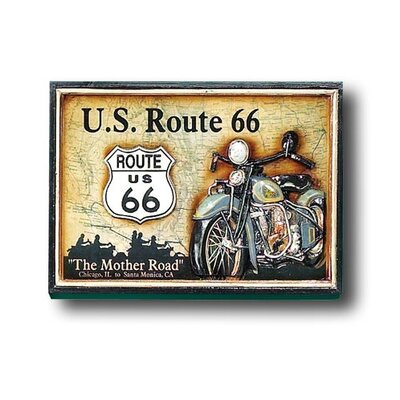Game Room Route 66 Framed Vintage Advertisement by RAM Game Room