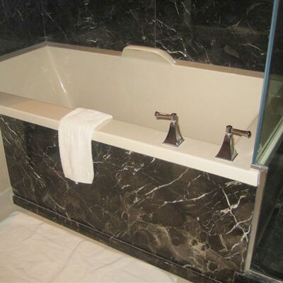 """Hydro Systems Designer Kayla 74"""" x 42"""" Whirlpool Bathtub with Combo System"""
