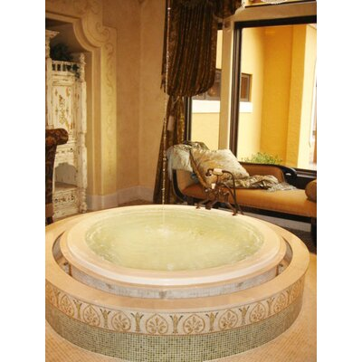 "Designer 69"" x 69"" Redondo Whirlpool Bathtub with Combo System Product Photo"