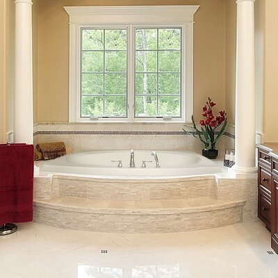 "Designer Largo 82"" x 64"" Air/Whirlpool Bathtub with Thermal System Product Photo"