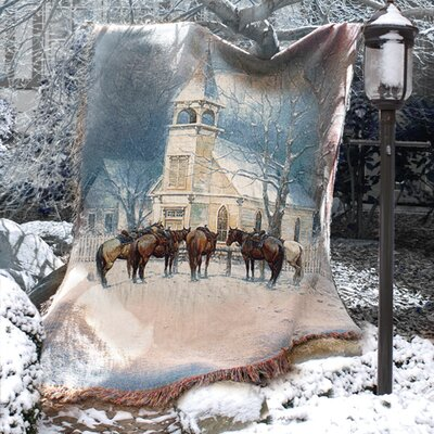 Manual Woodworkers & Weavers Sunday Social Club Tapestry Cotton Throw