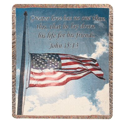 Manual Woodworkers & Weavers Salute to Our Soldiers Tapestry Cotton Throw