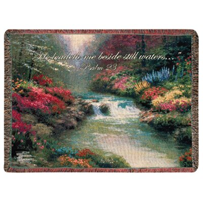 Manual Woodworkers & Weavers Beside Still Waters Tapestry Cotton Throw
