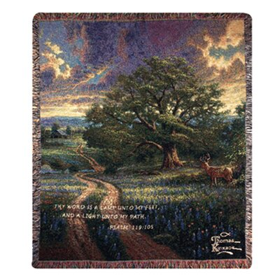 Manual Woodworkers & Weavers Country Living Verse Tapestry Cotton Throw