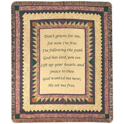 Manual Woodworkers & Weavers Grandmother Tapestry Cotton Throw
