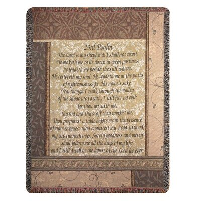 Manual Woodworkers & Weavers My Shepherd 23rd Psalm Tapestry Cotton Throw