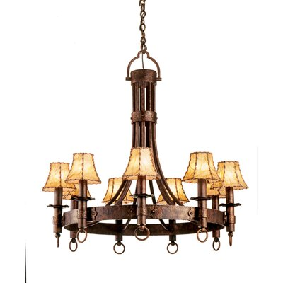 Americana 9 Light Chandelier by Kalco
