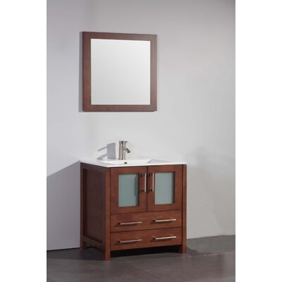 "30"" Single Bathroom Vanity Set with Mirror Product Photo"