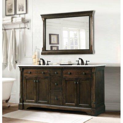 legion furniture 60 double bathroom vanity set reviews wayfair. Black Bedroom Furniture Sets. Home Design Ideas
