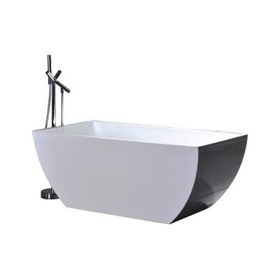 "WE Series 67"" x 31.5"" Soaking Bathtub Product Photo"