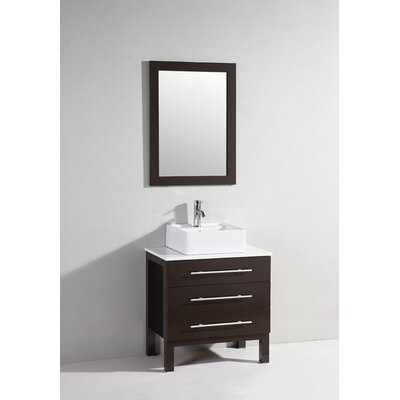 "28"" Single Bathroom Vanity Set with Mirorr Product Photo"