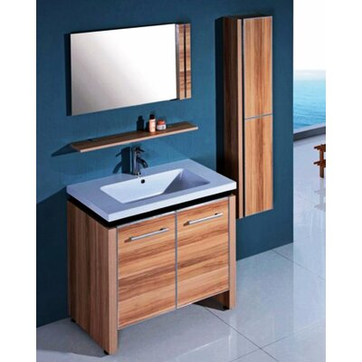 "31"" Single Bathroom Vanity Set with Mirror and Cabinet Product Photo"