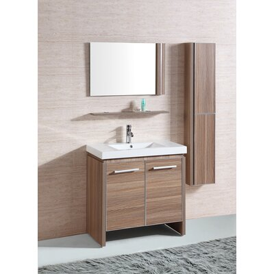 "31"" Sink Vanity Set with Mirror and Side Cabinet Product Photo"
