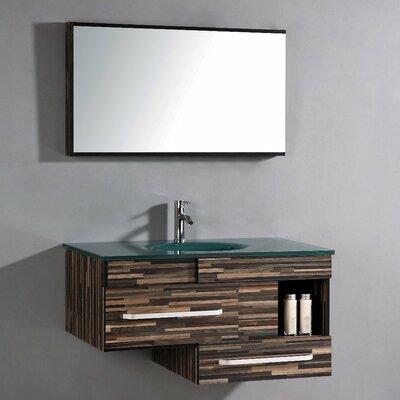 "40"" Single Bathroom Vanity Set with Mirror Product Photo"