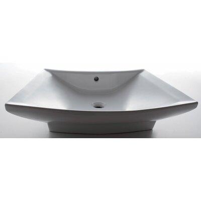 Porcelain Bathroom Sink with Single Hole by EAGO