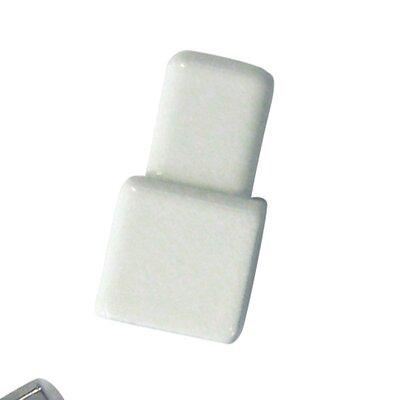 "Blanke Cubeline 1"" x 1"" Inner-Outer Corner Piece Tile Trim in Aluminum Jasmin PVC Coated"