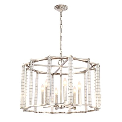 Carson 6 Light Candle Chandelier by Crystorama