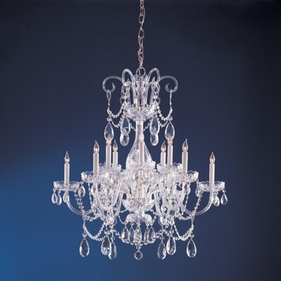 Waterfall Crystal 6 Light Chandelier Product Photo
