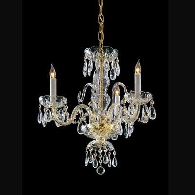 3 Light Chandelier with Swarovski Strass Crystal by Crystorama