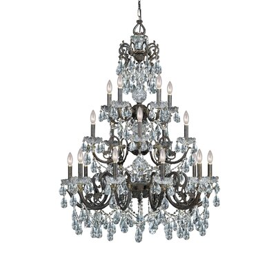 Crystorama Traditional Classic 20 Light Crystal Candle Chandelier