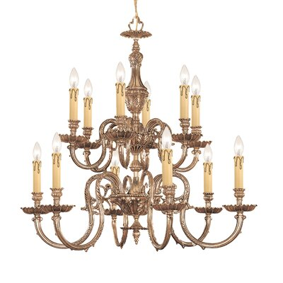 Olde World 12 Light Candle Chandelier by Crystorama