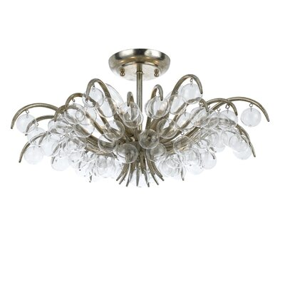 Metro 5 Light Semi Flush Mount by Crystorama