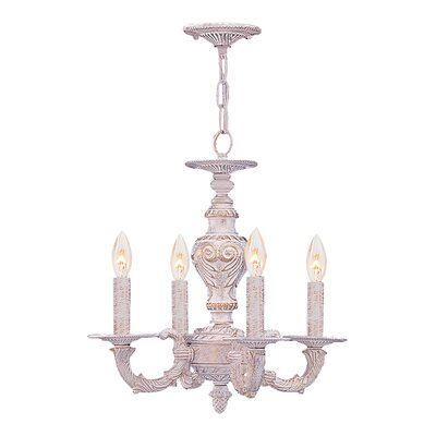 Sutton 4 Light Wrought Iron Chandelier Product Photo